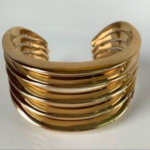 Gold Tone Chunky Geometric Micheal Kors Bracelet
